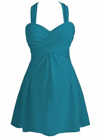 a line swim dress for apple shape plus size