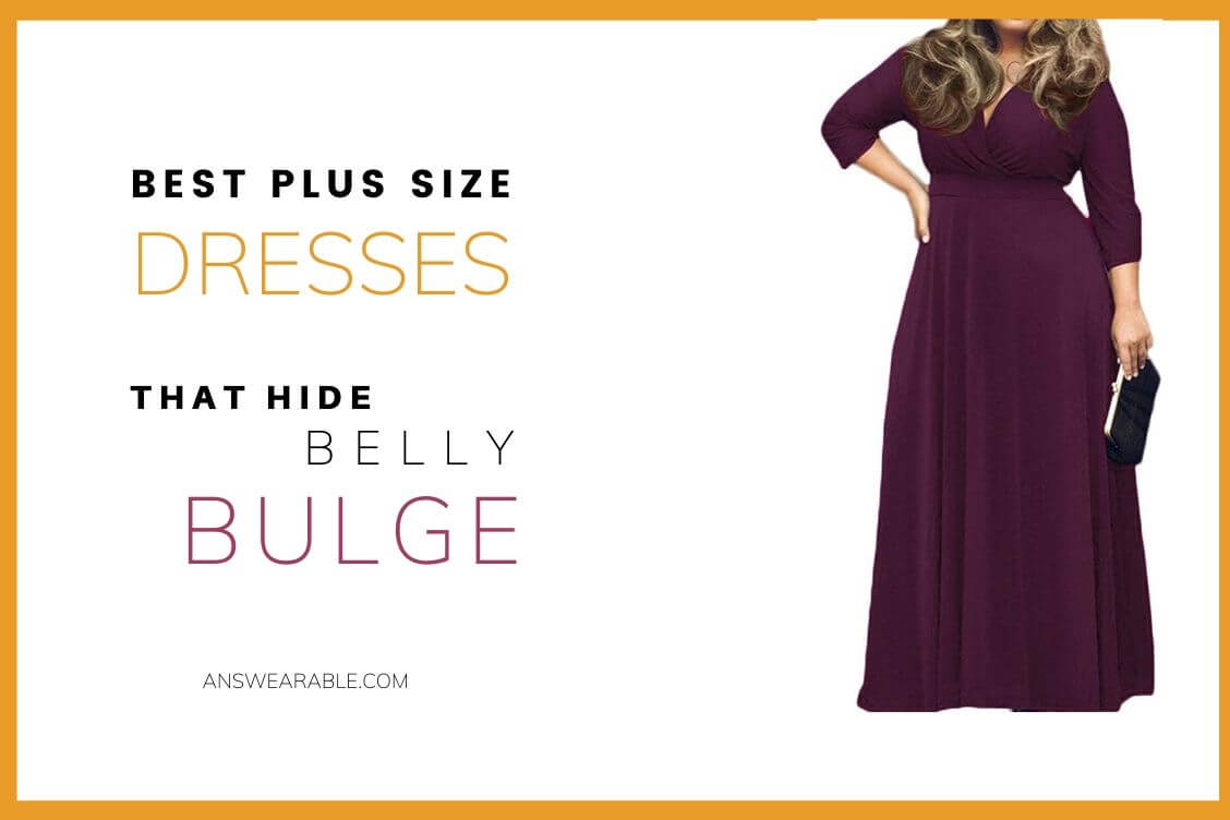 Online plus size dresses that hide belly bulge sell